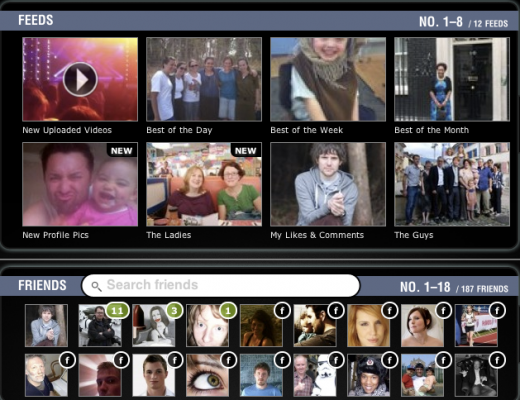 Screen shot 2011 07 20 at 16.27.06 520x400 Pixable makes it easier to find your Facebook friends latest videos