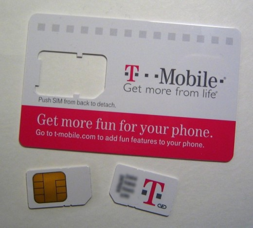 T Mobile SIM card front and back 642x580 520x469 T Mobile courts iPads and unlocked iPhones with Micro SIMs