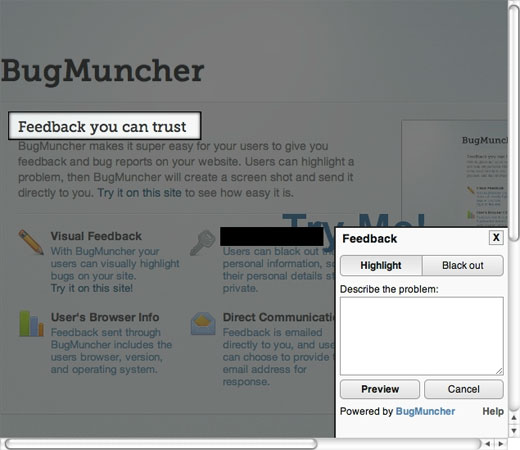bugmuncher BugMuncher makes Google+s feedback tool available to the masses