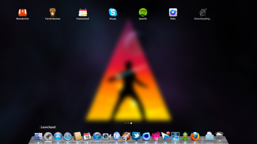 downloading an app to Launchpad 520x292 TNW Review: OS X Lion