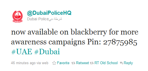 dubai Dubai police adopt BlackBerry Messenger to talk to the public