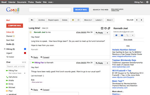 gmail2 Gmails got a beautiful new look and you can try it NOW