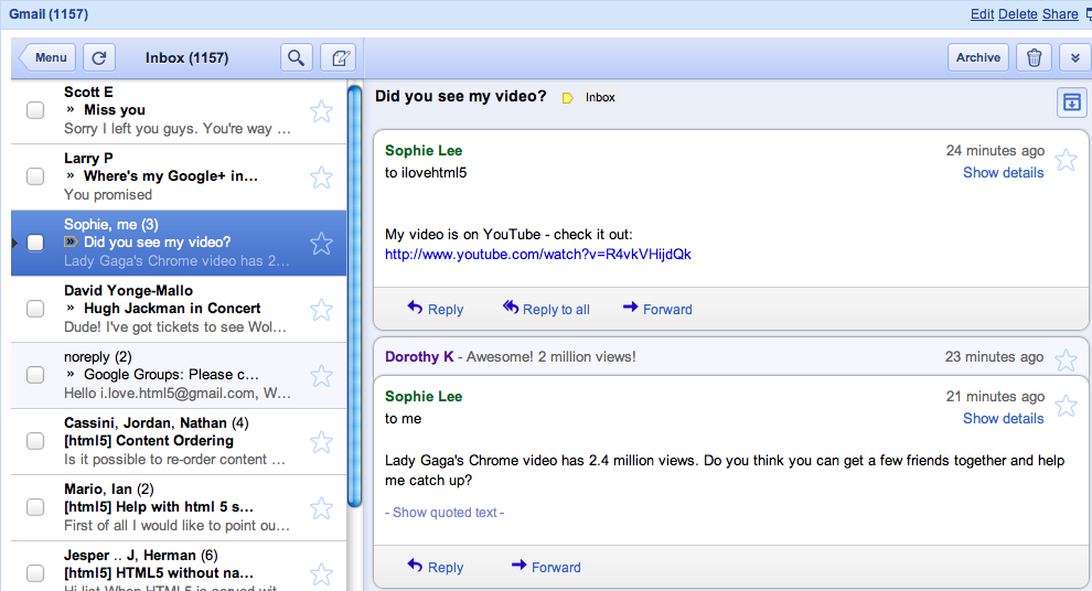 Gmail мобильная версия - фото 7