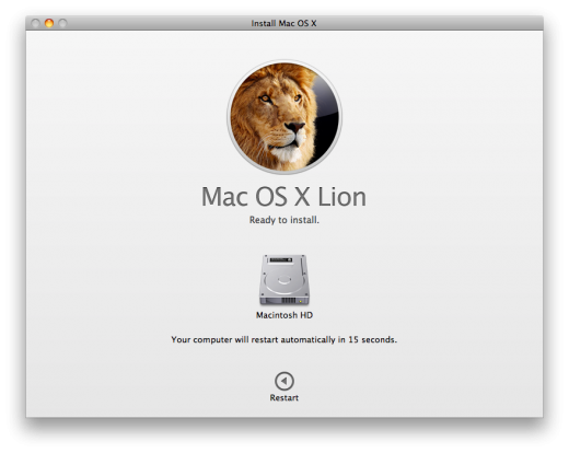 lion install 520x414 TNW Review: OS X Lion