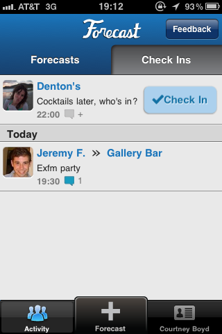 photo3 The new Forecast app lets you blast future plans to Foursquare friends
