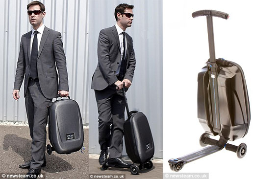 samsonite This commuter scooter turns your briefcase into personal transport.