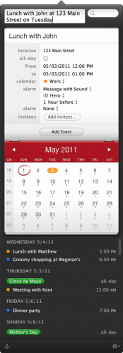 screenshot 1 174x500 Gorgeous calendar app Fantastical 1.0.2 adds BusyCal support