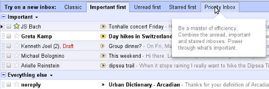 tabs Gmail to roll out new inbox sorting options
