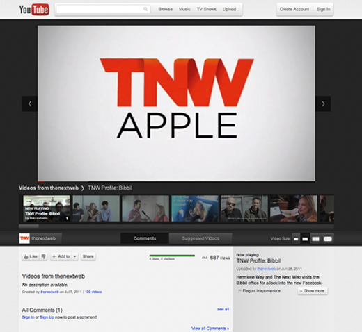 tnw YouTubes got a great new look, and you can try it NOW