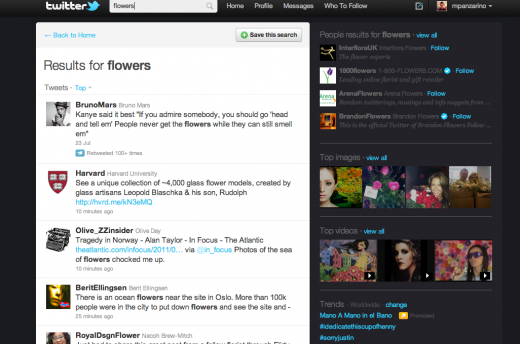 yTLr.Screen Shot 2011 07 25 at 2.03.32 PM 520x344 Twitter search now has video and picture results [Updated]