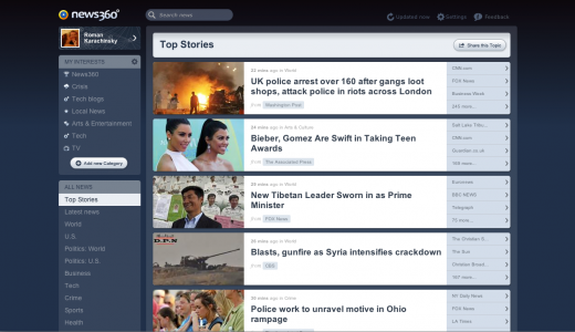 01. Top Stories 520x300 News360 now uses your personal data to matchmake you with news stories