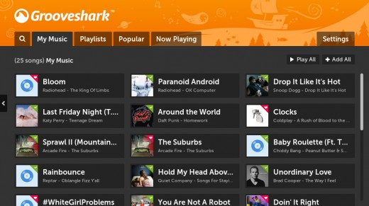 03 MyMusic 520x291 Get down with Grooveshark, now available on your Boxee