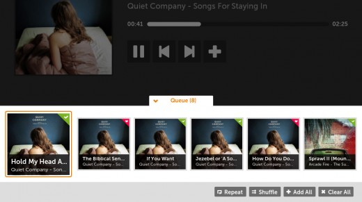 07 Queue 520x291 Get down with Grooveshark, now available on your Boxee