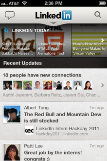 21 220x330 LinkedIn launches slick new iPhone, Android and HTML5 mobile apps