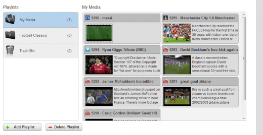 3. Organize your media 520x268 Yokto lets you embed videos from multiple sources into one player
