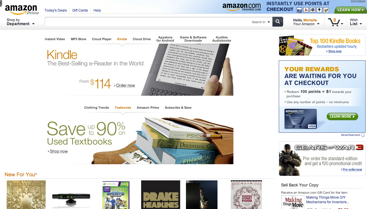 Amazon is testing a slick new site design perfect for tablets for New online shoping site