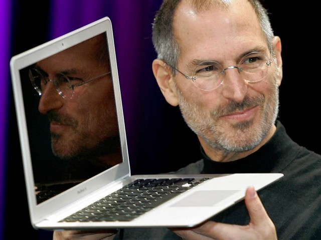 Author reveals front and back cover of official Steve Jobs biography