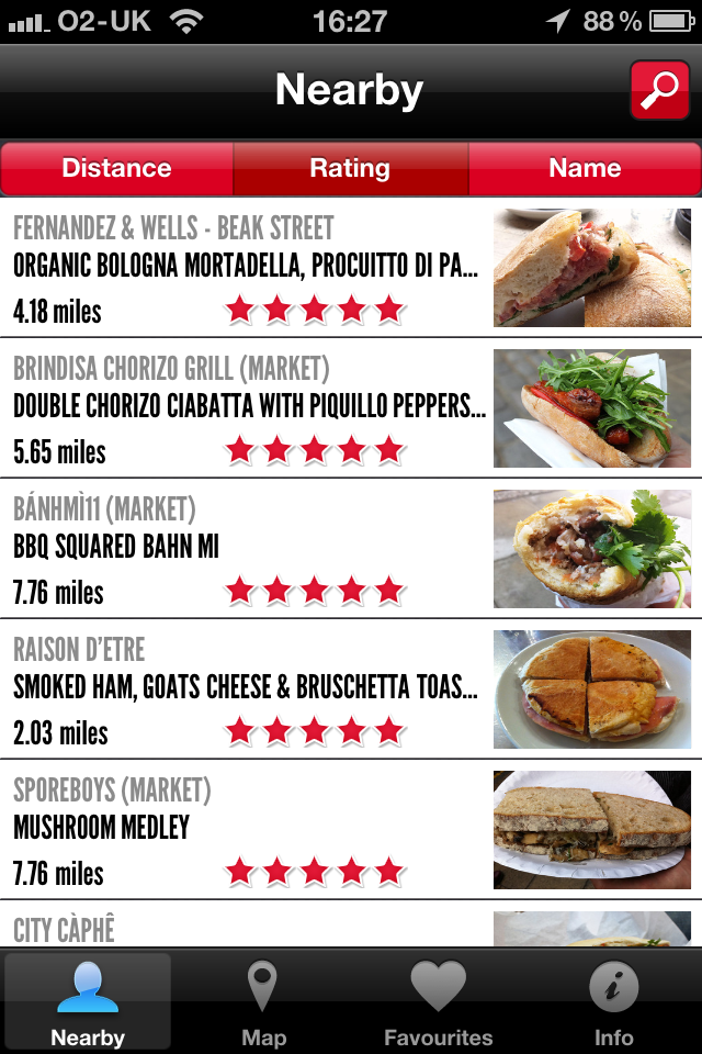 BSL Nearby Hungry in London? This iPhone app will help you track down the best sandwiches.