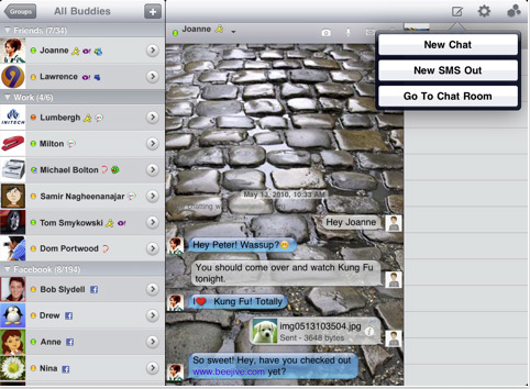 BeejiveIM iPad 1 The top 6 best Instant Message client apps on any platform