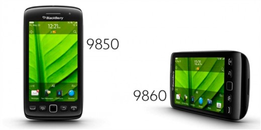 BlackBerry Torch 9850 and 9860 smartphones 520x260 RIM unveils five new BlackBerry 7 handsets, launching with 225 partners worldwide