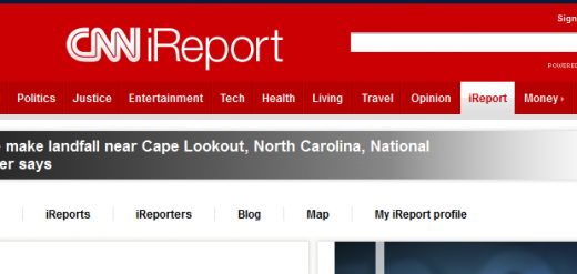 CNN iReport 520x247 11 websites citizen journalists should know about