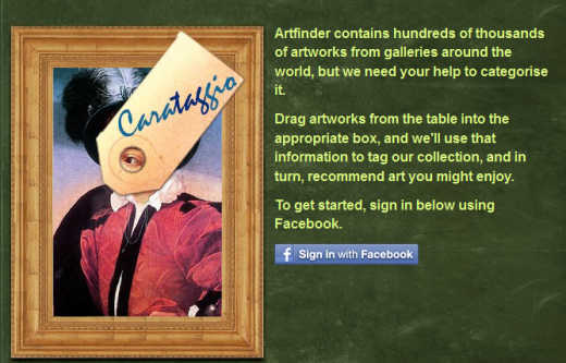 Carataggio 520x333 Want to win an iPad 2? Help ArtFinder in its Facebook image tagging game.