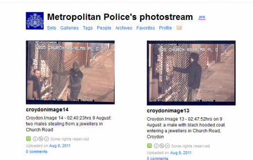 Flickr Metropolitan Polices Photostream 1312888686188 520x329 Police use Flickr to identify London riot suspects