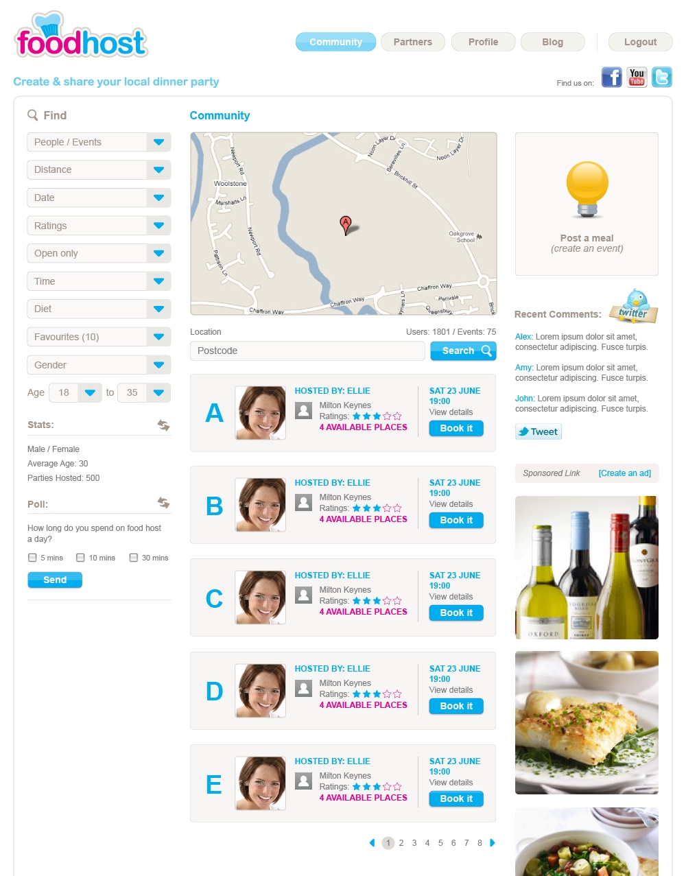 Foodhost12 Foodhost: The online marketplace for dinner parties