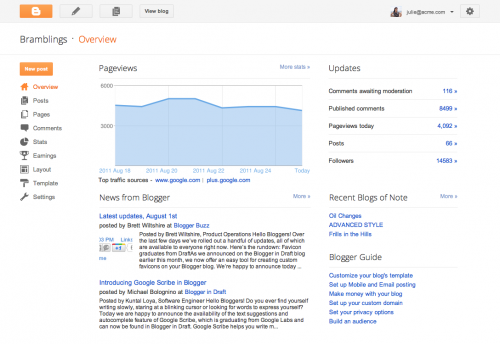 G2 500x344 Google rolls out new Blogger interface