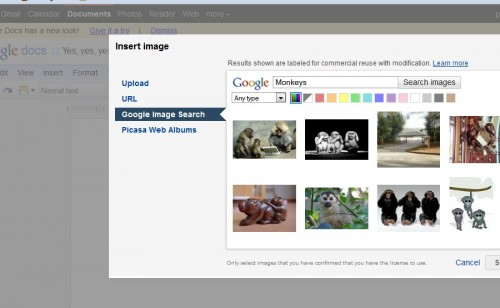 Insert From Image Search 500x308 15 tips to get the most out of Google Docs