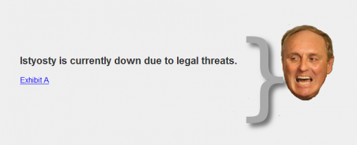 Istyosty 520x211 Istyosty, the proxy Daily Mail browsing site, is forced offline due to legal threats