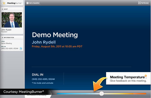 MB In Meeting Final MeetingBurner: An easy, free, and fully featured platform for online seminars