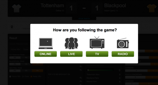 Match Checkin 520x282 Bantr: The social network for football fans