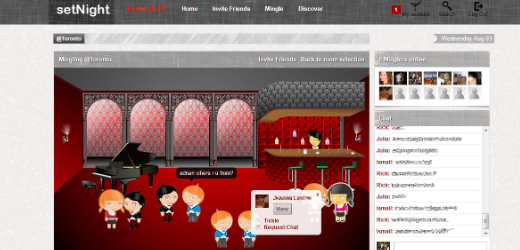 Mingle area1 Social network setNight sets out to improve your nightlife