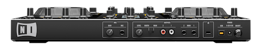 NI TRAKTOR KONTROL S2 controller rear Native Instruments slims down and improves its S4 DJ controller   Meet the S2