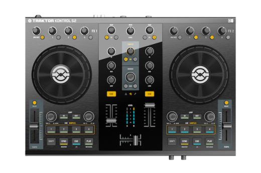 NI TRAKTOR KONTROL S2 controller topview 520x346 Native Instruments slims down and improves its S4 DJ controller   Meet the S2