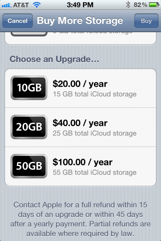 Photo Aug 01 3 49 37 PM 520x780 Apples iCloud Pricing: 5GB free, $20 for 10GB, $40 for 20GB and $100 for 50GB