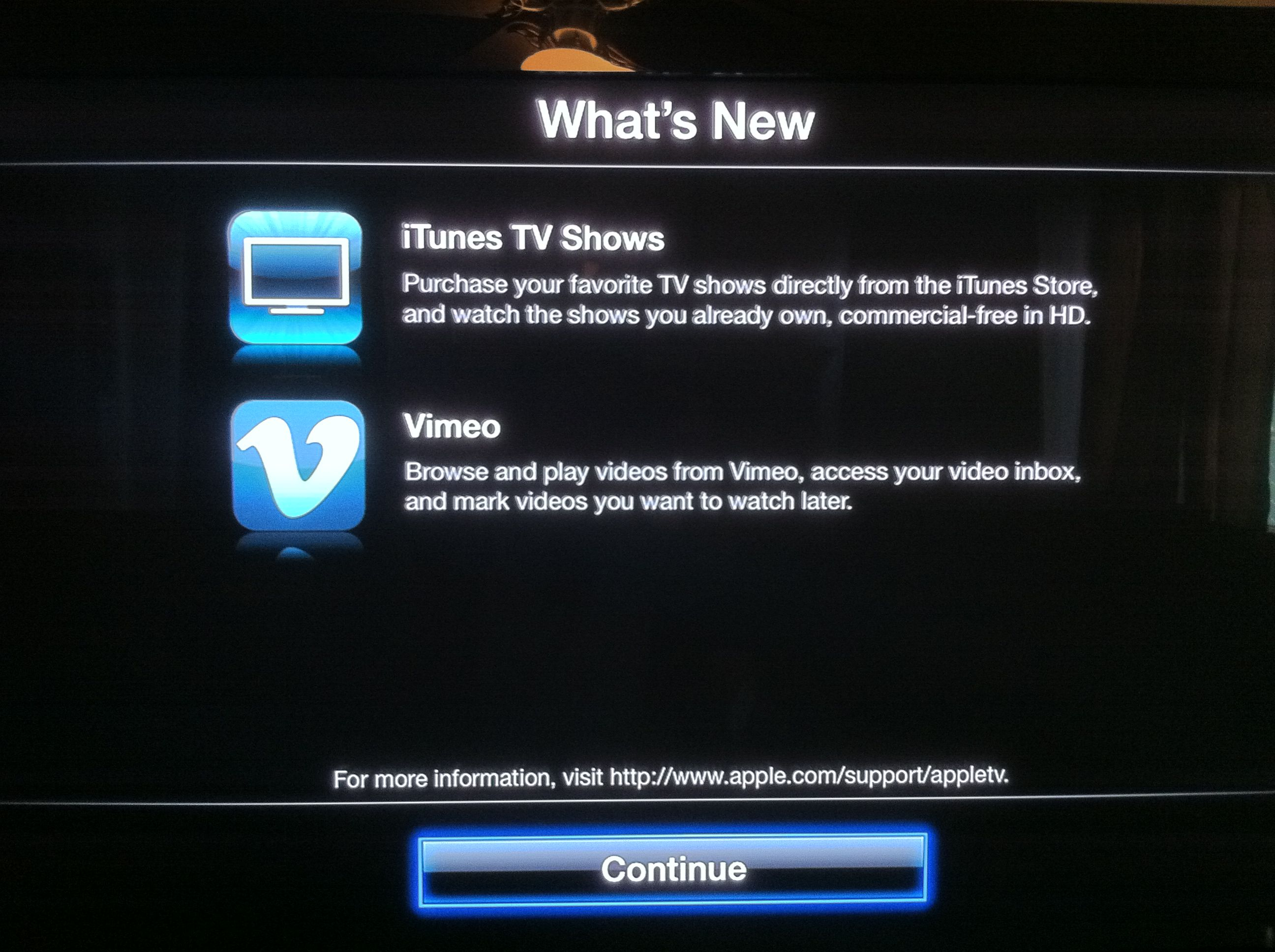 Apple TV iOS 4.3 streams TV shows from iCloud, now supports Vimeo