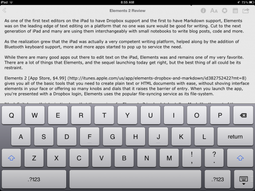 Photo Aug 11 8 55 08 AM 520x390 Elements 2 is a restrained and remarkable text editor for iPhone and iPad