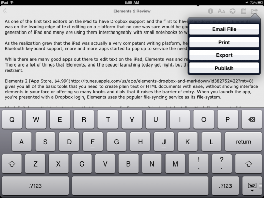 Photo Aug 11 8 55 55 AM 520x390 Elements 2 is a restrained and remarkable text editor for iPhone and iPad