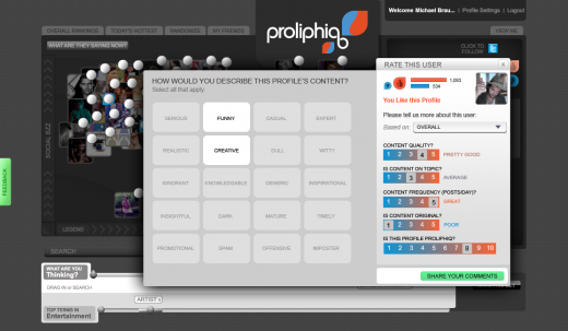 Proliphiq Rated1 520x303 New social media search tool, Proliphiq, is powered by the people