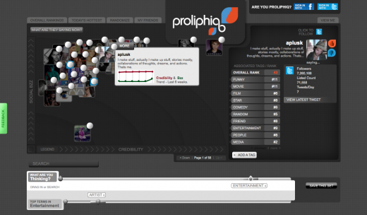 Proliphiq UserProfile1 520x304 New social media search tool, Proliphiq, is powered by the people