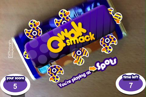 QwakSnak Blippar, the augmented reality app for brands, launches with Cadbury chocolate bar game