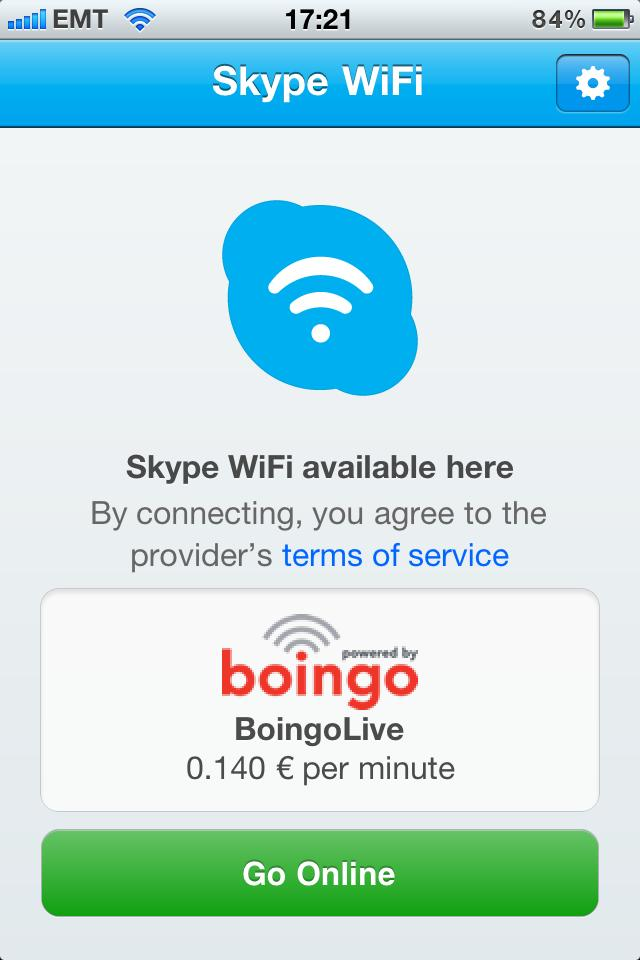 Skypes WiFi hotspot app comes to iOS, unlimited data, $.06 per minute