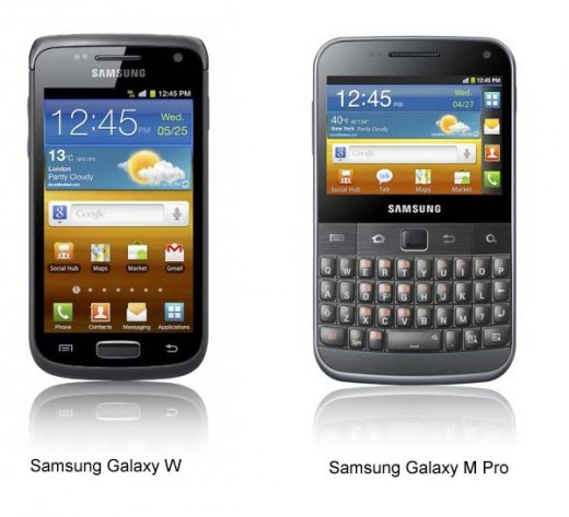 Samsung Galaxy W M Pro 520x473 Samsung unveils four new Galaxy smartphones, debuts new naming policy