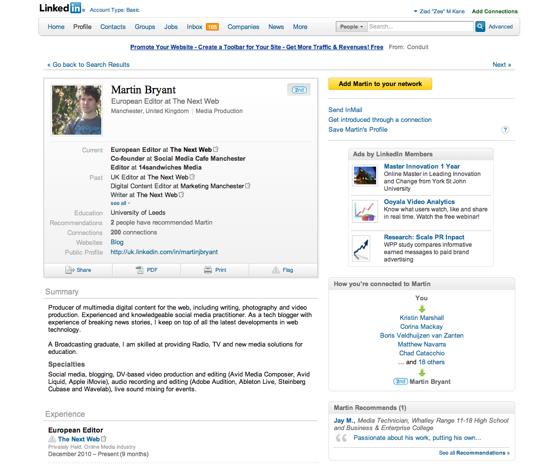 Linkedin profiles get a revamp, adding PDF downloading and