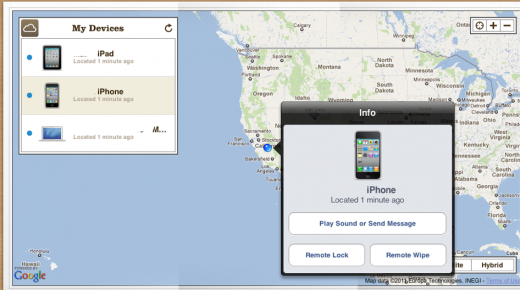Screen Shot 2011 08 03 at 4.12.40 PM1 520x290 Apple enables Find My iPhone and Find My Mac on iCloud.com