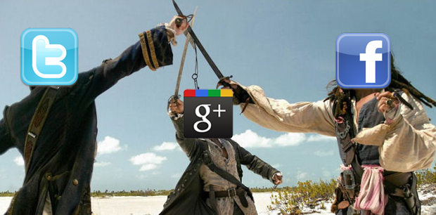 This extension lets you crosspost between Twitter, Facebook and Google+…in any order.