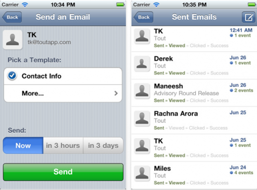 Screen Shot 2011 08 12 at 14.48.40 520x385 Easily send repetitive emails on the go, as ToutApp comes to the iPhone