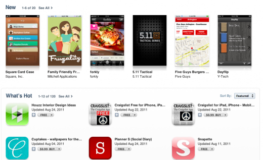 Screen Shot 2011 08 25 at 1.01.41 PM 520x317 Apple rolling out new App Store category home pages